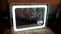 Зеркало с подсветкой, LED логотипом, индивидуальное изготовление
