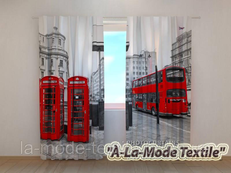 """Фотошторы """"Лондонский автобус""""  2,5*2,6"""