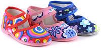 Тапочки детские для дома и садика, текстильная детская обувь