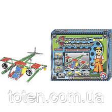 """Конструктор металлический 8 моделей для сборки  """"Воздушный транспорт"""", Технок, 1042, 189 деталей"""
