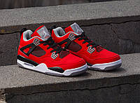 Мужские кроссовки Nike Air Jordan 4 Retro Fire Red/Cement Grey 42
