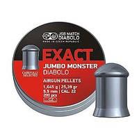 Пули JSB Exact Jumbo Monster 5.52 мм (200шт.) 1.645 гр.