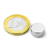 Неодимовый магнит хром 30мм/15мм (25 кг)