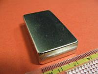 Неодимовый Магнит Прямоугольник NdFeB N38  46х30х10 мм (33 кг), фото 1