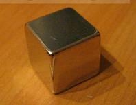 Неодимовый Магнит квадрат NdFeB N38  30х30х30 мм (40 кг), фото 1
