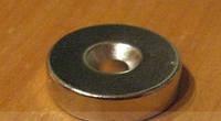 Неодимовый магнит  под шуруп   10мм/3мм (0.7 кг)