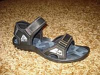 Качественные сандалии кожа Nike (фабрика) черные.(40/41)