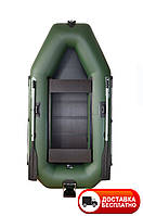Надувная лодка Omega 260LSPT(PS) (поворот. уключ., слань коврик, привал. брус, подвиж.сид., навес.транец)