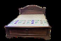 Кровать из дерева Флоренция двуспальная цвет венге