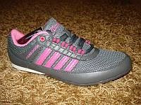 Женские летние кроссовки (сетка лето) серый + розовый (39), фото 1