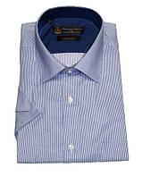 Классическая рубашка мужская, прямой крой под брюки или костюм