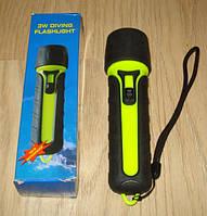 Фонарик для подводной охоты 100 люмен. 4 АА.