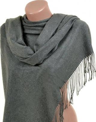 Теплый женский кашемировый палантин размером 60*180 см Подиум 32112 grey (серый)
