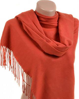 Удобный женский кашемировый палантин размером 60*180 см Подиум 32112 orange (оранжевый)