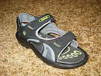 Летние легкие шлепанцы - сандалии Серый+желтый (42/43/44)