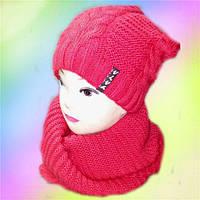 Комплект женский хомут+шапка. флис