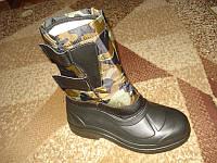 Теплые зимние ботинки *Термос* высокие, фото 1