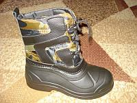 Теплые зимние ботинки *Термос* низкие шнурок, фото 1