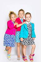 Детский яркий пиджак с рукавом 7/8 (3 цвета).