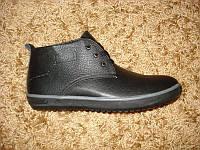 Зимние кожаные ботинки шерсть (44/45), фото 1