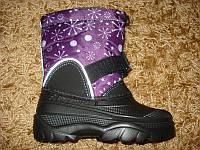 Детские термо ботинки пенка Cнежинка фиолет. (28/29/34/35/36/37)
