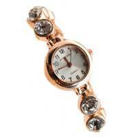 Изящные женские наручные часы со стразами