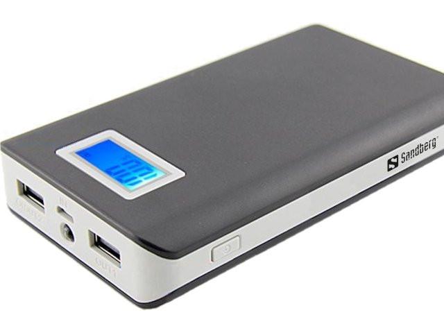 Power Bank Внешнее зарядное устройство - 12 000 мАч с ЖК дисплеем индикатора зарядки.