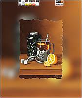 """Схема для вышивки бисером на подрамнике (холст) """"Утренний чай"""""""