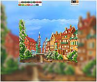 """Схема для вышивки бисером на подрамнике (холст) """"Венеция. Городской пейзаж"""""""