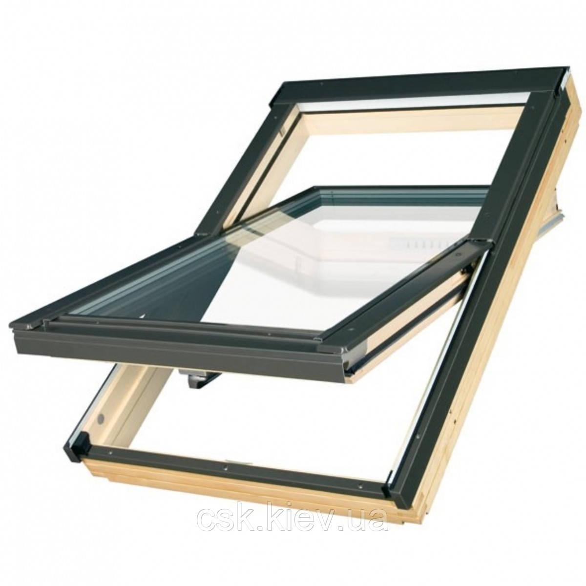 Мансардное окно VELUX с открыванием по центральной оси