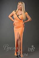 Платье из масла в пол с кружевом /Апельсинка/