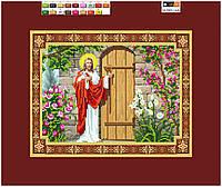 """Схема для вышивки бисером на подрамнике (холст) икона """"Иисус стучащий в дом"""""""