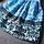 Платье женское жаккардовое с сине-зеленым принтом, фото 5