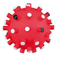 Trixie TX-3421 Мяч игольчатый с пищалкой 12см -игрушка для собак, фото 1