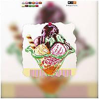 """Схема для вышивки бисером на подрамнике (холст) """"Мороженое"""""""
