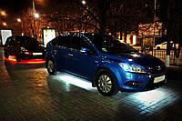 Подсветка днища автомобиля RGB диодная (многоцветная), 2х90см + 2х120 см