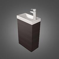 Шкафчик навесной с раковиной Java 40 (ШН-400) цвета исполнения-Венге;Белый.