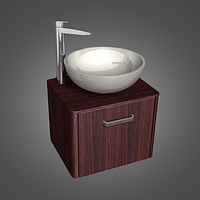 Шкафчик навесной с раковиной FIJI 70 цвета исполнения-Венге;Белый.