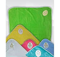 Плед детский махровый с вышивкой Ангелочек для малышей, 1 х 1 м