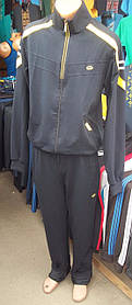 Спортивний чоловічий костюм чорний+жовті смужки
