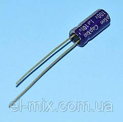 Конденсатор электролитический     1.0мкФ 100В CapXon  85*C GS 5*11