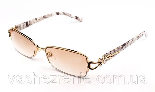 Очки женские для зрения +/- солнцезащитные.