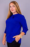 Кортни. Женская блузка больших размеров. Электрик., фото 1