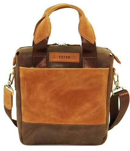 Суперстильная мужская сумка из натуральной кожи 29х25х7 VATTO MK-33.2KR450.190 коричневый
