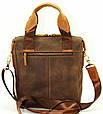 Суперстильная мужская сумка из натуральной кожи 29х25х7 VATTO MK-33.2KR450.190 коричневый, фото 4
