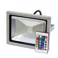 Наружный светодиодный прожектор 20 Вт RGB+пульт 6500K IP65 1LED LEMANSO / LMP20-RGB