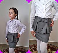 Юбка для девочки в школу от 6 до 9 лет (3 цвета)