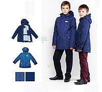 Демисезонная куртка для мальчика Libellule (Baby Line) V114-16 р.116 синий с рисунком