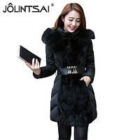 Женский зимний пуховик, женское зимнее пальто. Модель 753, фото 3