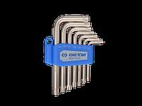 Набор Г-образных ключей Torx Т10-Т40 с отверстием KING TONY, 7ед.